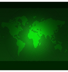 striped line world map template vector image vector image
