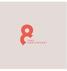 8 years anniversary celebration template design vector