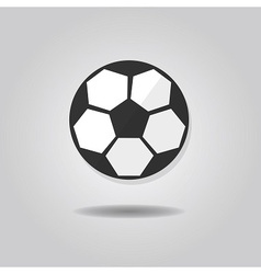 abstract single soccer ball icon vector image