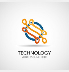 abstract technology icon vector image