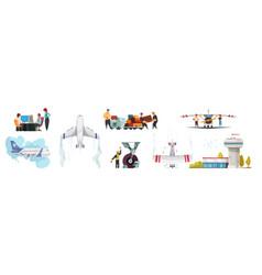 Airport cartoon concept vector