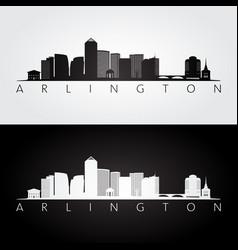 arlington virginia - usa skyline and landmarks vector image