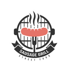 Barbecue and grill label bbq emblem and badge vector