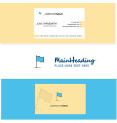 beautiful sports flag logo and business card vector image