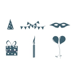 Birthday objects vector