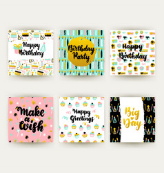birthday party postcards vector image