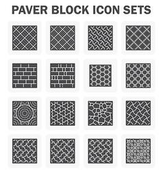 Block icon concrete vector