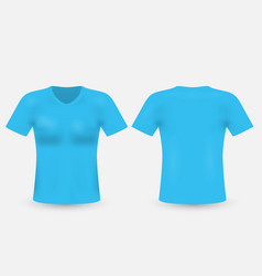Blue t-shirt template isolated on background mens vector