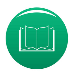 book learning icon green vector image