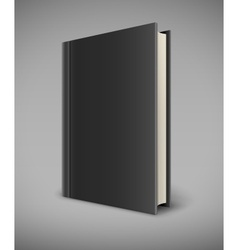 Book with black blank cover vector image