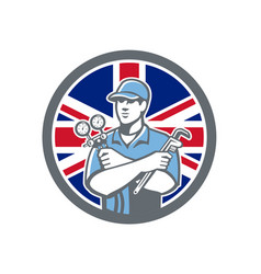 British refrigeration mechanic icon vector