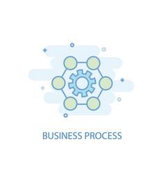 business process line concept simple line icon vector image