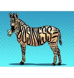 Business Zebra eats money vector