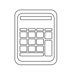 Calculator utensil math number technology vector