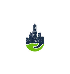 care town logo icon design vector image