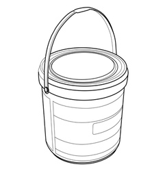 Chemical Bucket out line vector image vector image