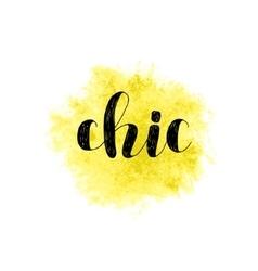 Chic Brush lettering vector