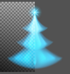 Christmas tree from light and bokeh eps 10 vector