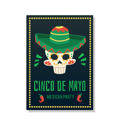 cinco de may - mexican holiday celebration party vector image