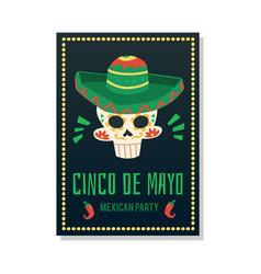 cinco de may - mexican holiday celebration party vector image