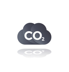 co2 emissions carbon dioxide cloud icon vector image