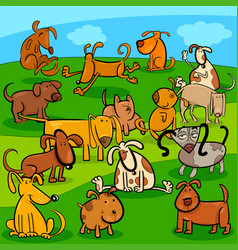 comics dogs cartoon characters group vector image