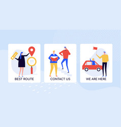 company location directions colorful banner vector image