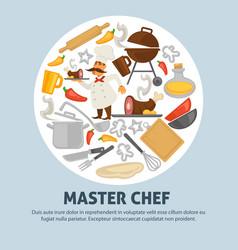 cooking school master chef poster vector image
