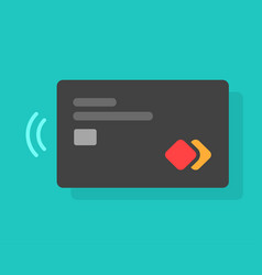 Credit or debit card with chip and contactless pay vector