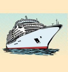Cruise ship vacation sea travel vector