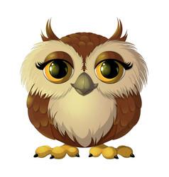 Cute brown owl vector