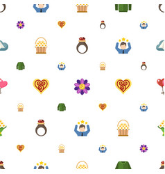 decoration icons pattern seamless included vector image