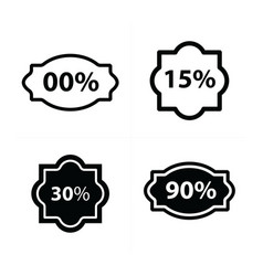 design price tags label set vector image