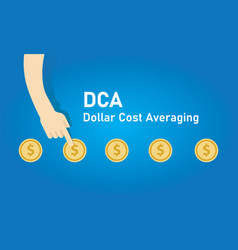 Dollar cost averaging dca method to invest or vector