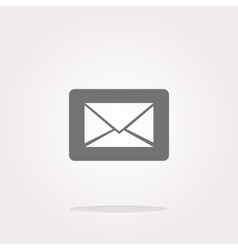 Email icon on glossy round button vector image