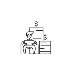 Financial trading line icon sign vector