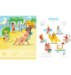 flat colorful summer vacation concept vector image
