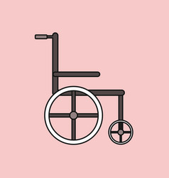 Flat icon design collection medical wheelchair vector