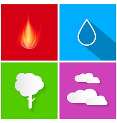 Four Elements Fire Water Air and Earth vector