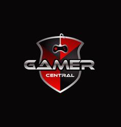 Gamer central logo symbol icon vector