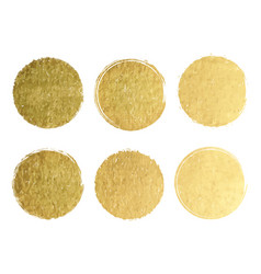 Gold label with golden glitter texture banners vector