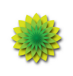 green lotus - symbol of yoga wellness beauty and vector image