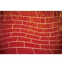 grunge brick wall vector image