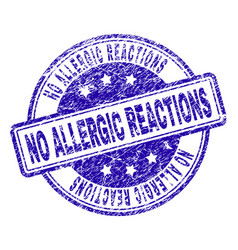 Grunge textured no allergic reactions stamp seal vector