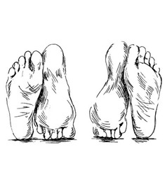 Hand sketch couple of feet having sex vector