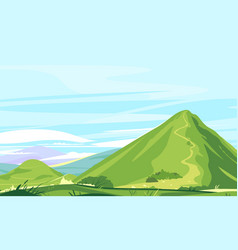 High mountain trail landscape background vector