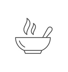 hot meal line outline icon vector image