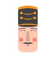 Isolated cute nutcracker soldier avatar vector