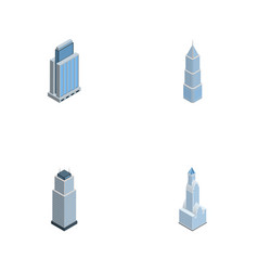 isometric skyscraper set of urban tower vector image