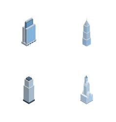 Isometric skyscraper set of urban tower vector